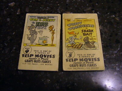 1949 Post's Grape-Nut-Flakes Flip Movies Lot of 2 Book 4 and Book 8