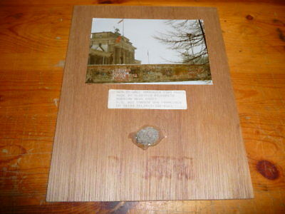 Authentic - 1989 - Piece of The Berlin Wall - Mounted