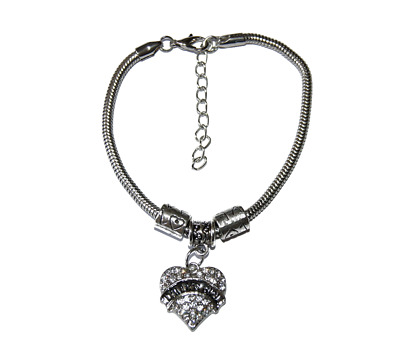 Silver Euro Bracelet Chain Diamante Daddy's Girl Baby Girl Slave Sub Submissive