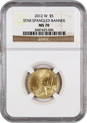 2012-W Star-Spangled Banner $5 NGC MS70 - Modern Commemorative Gold