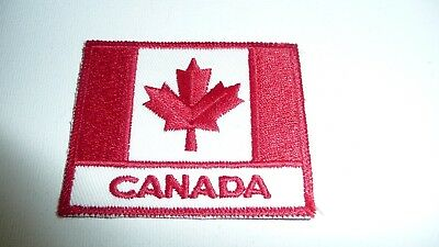 New CANADIAN FLAG PATCH Embroidered Sew On Canada Flag Patch With Lettering