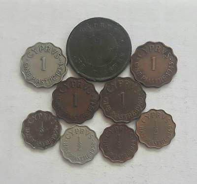 Cyprus Piastres Coins - LOT