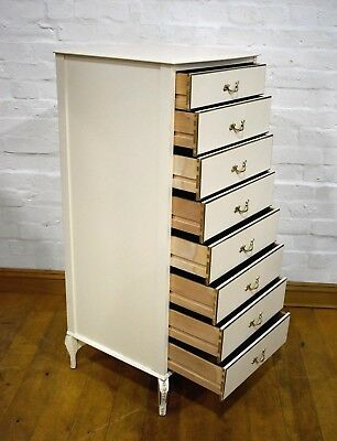 Antique style tall boy chest of drawers - Venus furniture