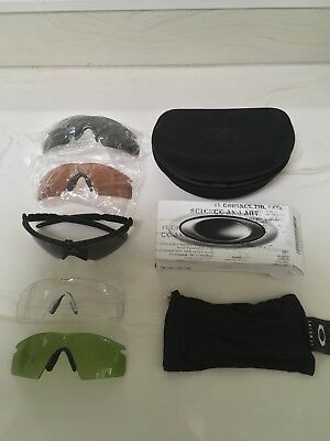 Oakley M-Frame Tactial Shooting Glasses With Multiple Lenses
