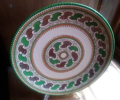 Charlotte Rhead Pottery Crown Ducal Patt. 4298 Tube Lined By Fanny Morrey C1935