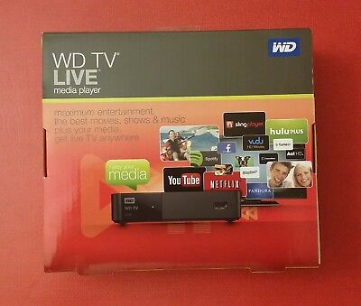WD TV LIVE media player WDBHG70000NBK-HESN - 3 Month Warranty!! NEW IN BOX