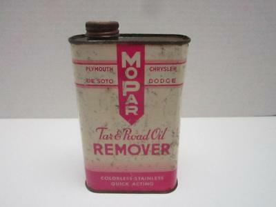 Vintage Mopar Oil Can Tar And Road Oil Remover Empty Screw Top Chrysler Dodge