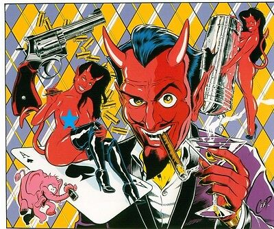 Right Facing MINI Smokin/' Devil Head STICKER Decal Poster Art Coop CP10BR Roth