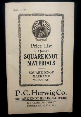 P.C. Herwig Co. Square Knot Macrame Weaving Catalog Reproduction