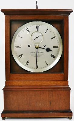 Antique C1860 English 8 Day Walnut Twin Fusee Library Regulator Bracket Clock