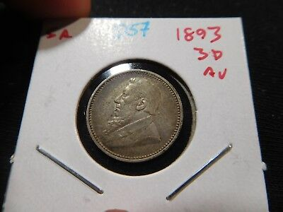 D57 South Africa 1893 3 Pence AU