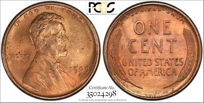 "1909-S VDB * PCGS MS65 RD RED "" SECURE "" * LINCOLN Wheat Cent 1c * $4,500+++ GEM"