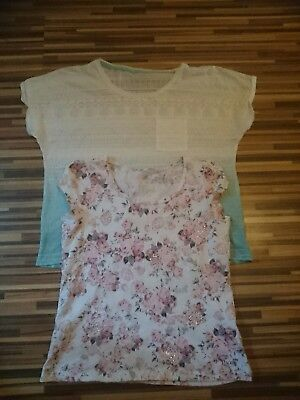 Job Lot Of Two Ladies Summer Tops / T-Shirts Size 14 Dorothy Perkins And M&s