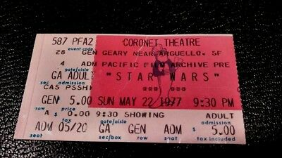 May 22, 1977 Star Wars Premiere @ Pacific Film Archive Coronet Theatre in S.F.
