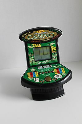 Deluxe Virtual Casino 5 in 1 Slots Black Jack Poker Table Top Electronic Game Ex