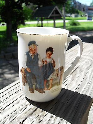 1982 NORMAN ROCKWELL Museum Cup Mug WHITE The Lighthouse Keepers Daughter