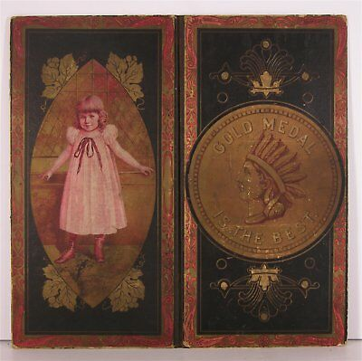 ca1880 GOLD MEDAL BAKING SODA CHROMOLITHOGRAPH GAME BOARD ADVERTISING SIGN