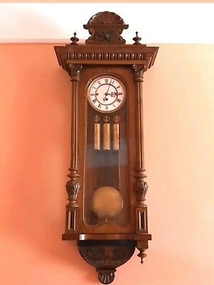 Antique   3 Weight Regulator Wall Clock