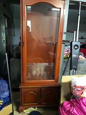Red Curio Cabinet Very Old