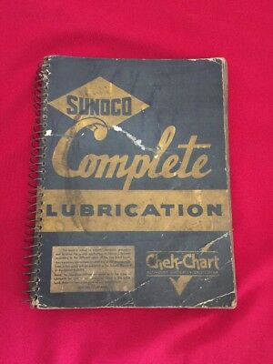 1940 SUNOCO A to Z LUBRICATION GUIDE Garage Station Manual Guide Chek-Chart Book