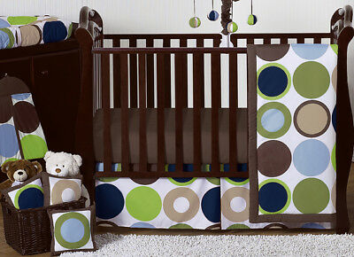 Unique And Contemporary Luxury Boutique Dot Bumperless Baby Boy Crib Bedding Set