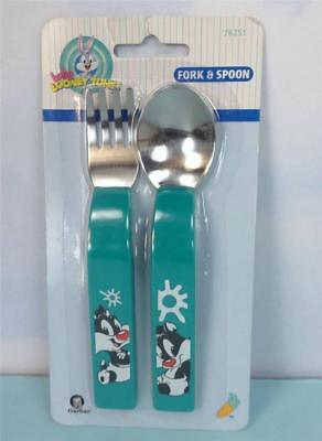 Baby Looney Tunes SYLVESTER Fork Spoon Silverware Set