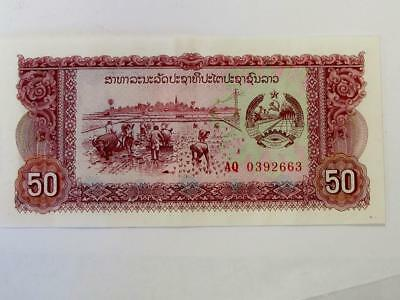 Uncirculated Not Issued 1975 50 Reils Cambodia Nice Type Note