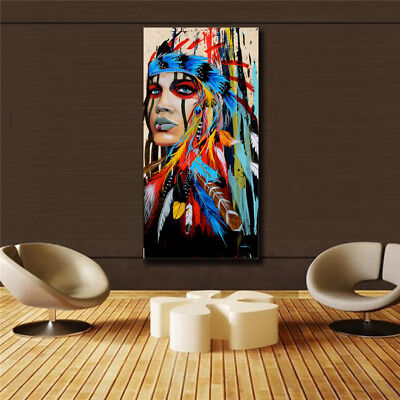 HD Canvas Painted Oil Painting Wall decor Feathered man  (31x63)