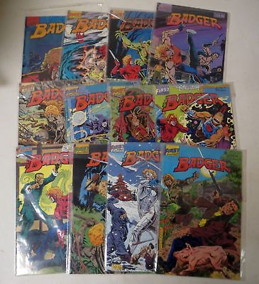 Vintage 1980s The BADGER COMIC BOOK LOT FIRST (12) #5-19 MIKE BARON
