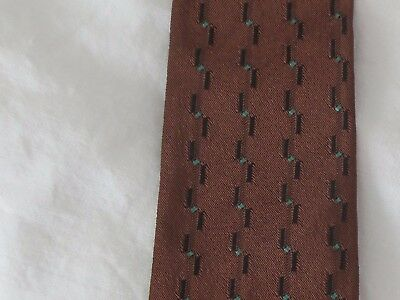 Fab Town Talk chocolate, black and aqua vintage skinny tie
