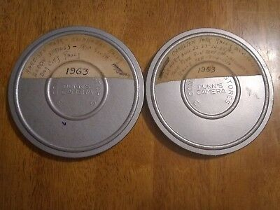 Amateur 1960s Film Reel LOT 2 of Family 8mm HOME MOVIES Vacation Travel camping