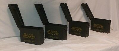 US Military  LOT OF 4 Ammo Cans 7.62 30 cal M19A1 Airtight Steel 10x3.5x7