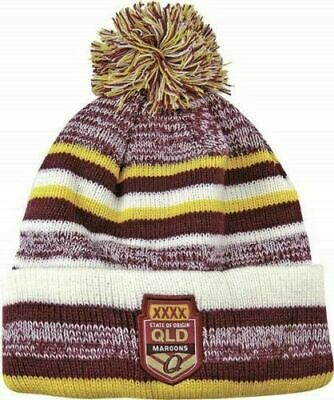 Queensland Maroons State Of Origin NRL Dynamo Knitted Beanie with Pom Pom!