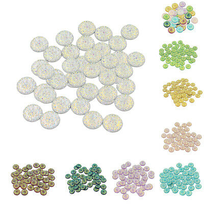 Wholesale 50pcs Multicolor Round Star Beads Starry Sky Beads Jewelry Making