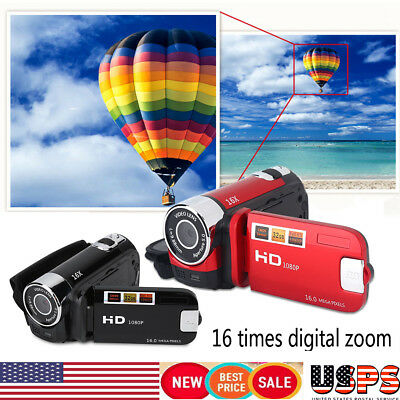 HD 270° Rotation Digital Camera 1080P 16X High Definition Video Camcorder DV US