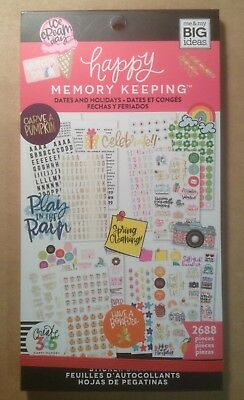 NEW! me & my big ideas Memory Keeping DATES AND HOLIDAYS Sticker Book 2688 Pcs.