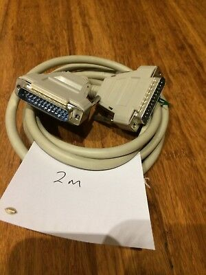 PC Parallel Printer DB25 25 pin Male plug Bi-Directional RS232 Serial cable (2m)