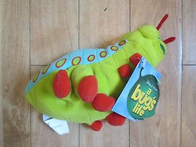 """Disney Comp. Bug's Life Heimlich Caterpillar 9"""" Long Soft Toy, With Tag, Immac"""