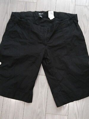 h m Black  maternity shorts large (12-14)