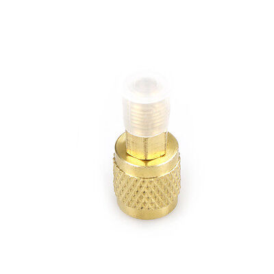 """New R410 Brass Adapter 1/4"""" Male to 5/16"""" Female Charging Hose to Pump Nice UK"""