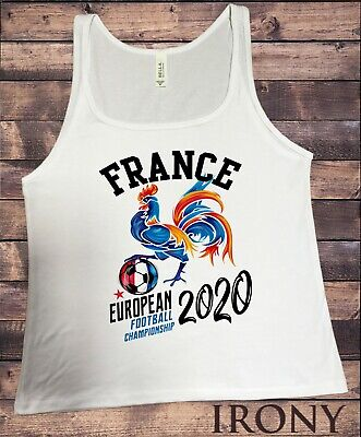World Cup Football France Flag Print Lady/'s Girls Sleeveless t Shirt Tank Top