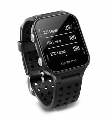 Garmin Approach S20 GPS Golf Watch with 40,000 Worldwide Courses - Black