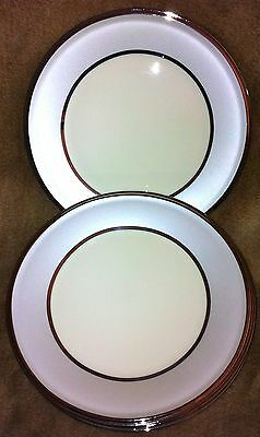 Lenox USA Dimension Collection IVORY FROST Four Salad Plates