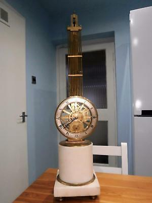 French Mystery Skeleton Clock Eight Day Fully Overhauled