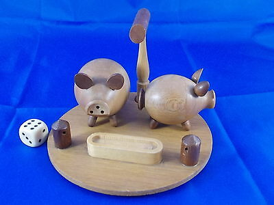 Older Pigs as Salt and Pepper Shaker Wood 60s SCANDINAVIAN DESIGN