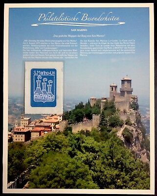 San Marino 2017 Embroidered coat of arms of castle Stickerei embroidery stamp **