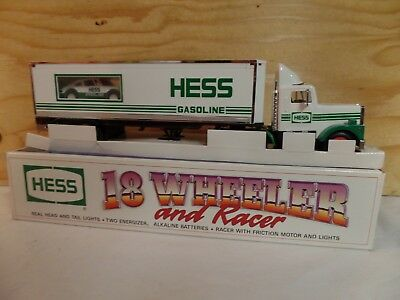 1992 Hess Toy Truck Gas Oil Advertising Gasoline Truck & Race Car Set