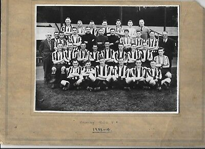 Original Press photograph Of Grimsby Town Football Club Team Group 1933 Mounted