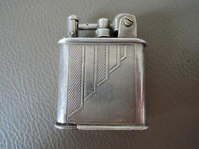 BRIQUET essence LANCEL Automatic Argent massif old petrol lighter solid silver