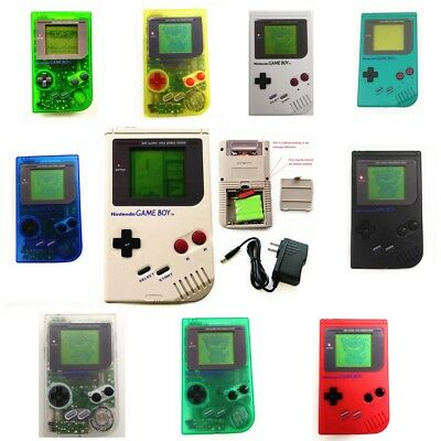 Rechargeable Nintendo Game Boy Original DMG-01 Console GB + Game Card